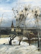 The Rooks Have Returned painting reproduction, Alexey Savrasov