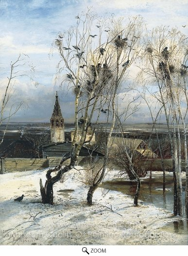 Alexey Savrasov, The Rooks Have Returned oil painting reproduction