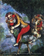 The Rooster painting reproduction, Marc Chagall (inspired by)