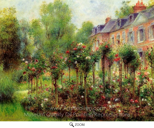 Pierre-Auguste Renoir, The Rose Garden at Wargemont oil painting reproduction