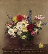 The Rosy Wealth of June painting reproduction, Henri Fantin-Latour