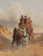 The Royal Mail Coach on the Road painting reproduction, John Frederick Herring Sr.