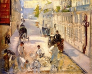 The Rue Mosnier with Road Menders painting reproduction, �douard Manet