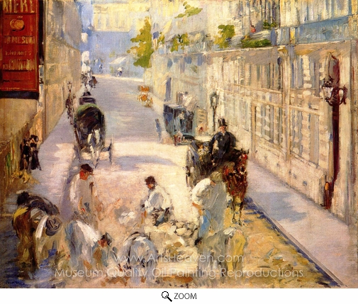 Édouard Manet, The Rue Mosnier with Road Menders oil painting reproduction