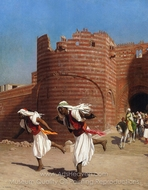 The Runners of the Pasha painting reproduction, Jean-Leon Gerome