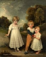 The Sackville Children painting reproduction, John Hoppner