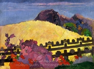 The Sacred Mountain (Parahi Te Marae) painting reproduction, Paul Gauguin