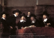 The Sampling Officials painting reproduction, Rembrandt Van Rijn