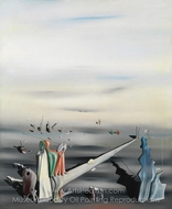 The Satin Tuning Fork painting reproduction, Yves Tanguy