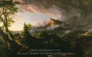 The Savage State painting reproduction, Thomas Cole