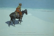 The Scout Friends or Foes painting reproduction, Frederic Remington