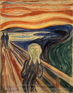 The Scream (Version 2) painting reproduction, Edvard Munch