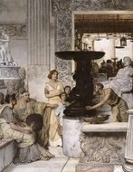 The Sculpture Gallery painting reproduction, Sir Lawrence Alma-Tadema