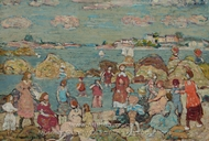 The Seashore painting reproduction, Maurice Prendergast