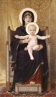 The Seated Madonna (Madone Assise) painting reproduction, William A. Bouguereau