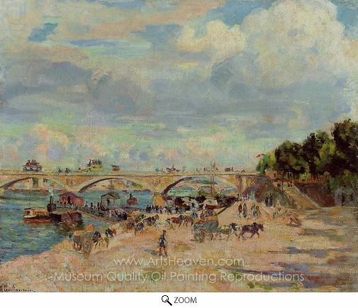 Armand Guillaumin, The Seine at Charenton oil painting reproduction