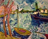 The Seine at Chatou painting reproduction, Maurice De Vlaminck