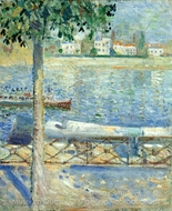 The Seine at Saint-Cloud painting reproduction, Edvard Munch