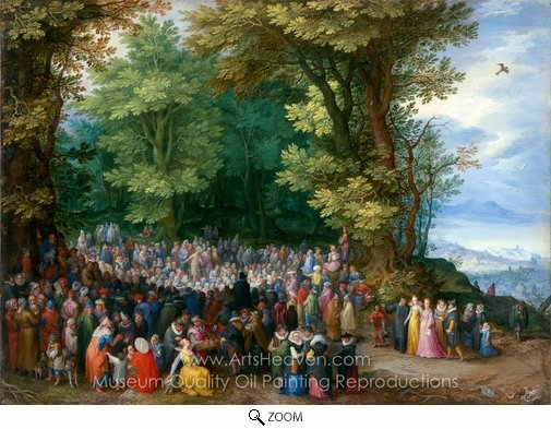 Jan Brueghel, The Sermon on the Mount oil painting reproduction