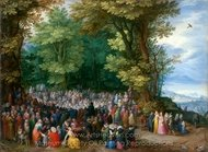 The Sermon on the Mount painting reproduction, Jan Brueghel