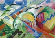 The Sheep painting reproduction, Franz Marc