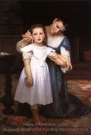 The Shell painting reproduction, William A. Bouguereau