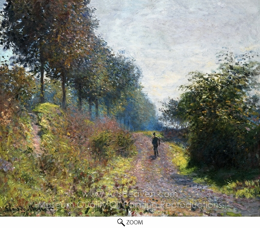 Claude Monet, The Sheltered Path oil painting reproduction