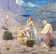 The Shepherd's Song painting reproduction, Pierre Puvis De Chavannes