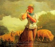 The Shepherdess of Houghton Farm painting reproduction, Winslow Homer