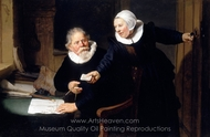 The Shipbuilder and His Wife painting reproduction, Rembrandt Van Rijn