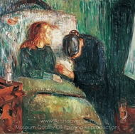 The Sick Child painting reproduction, Edvard Munch