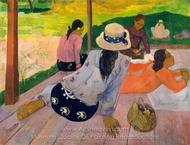 The Siesta painting reproduction, Paul Gauguin