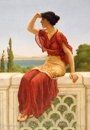 The Signal painting reproduction, John William Godward