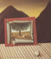 The Signs of Evening painting reproduction, Rene Magritte (inspired by)