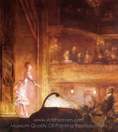The Singer in Pink painting reproduction, Jean-Louis Forain