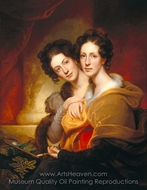 The Sisters (Eleanor and Rosalba Peale) painting reproduction, Rembrandt Peale