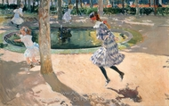 The Skipping Rope painting reproduction, Joaquin Sorolla