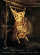 The Slaughtered Ox painting reproduction, Rembrandt Van Rijn