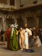 The Slave Market (For Sale) painting reproduction, Jean-Leon Gerome