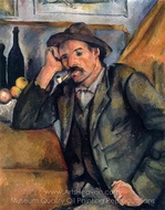 The Smoker painting reproduction, Paul Cézanne