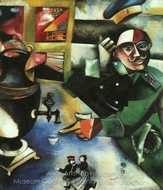 The Soldier Drinks painting reproduction, Marc Chagall (inspired by)