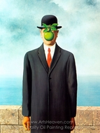 The Son of Man painting reproduction, Rene Magritte (inspired by)