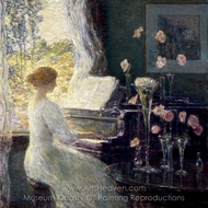 The Sonata painting reproduction, Childe Hassam