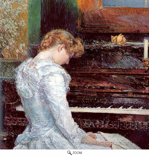 Childe Hassam, The Sonata oil painting reproduction