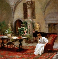 The Song painting reproduction, William Merritt Chase