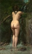 The Source painting reproduction, Gustave Courbet