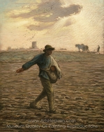 The Sower painting reproduction, Jean-Francois Millet
