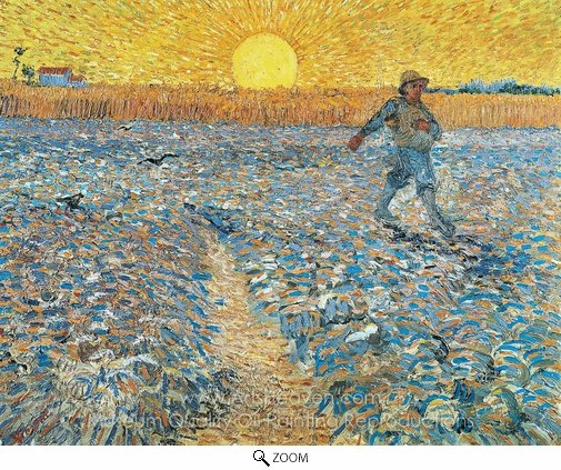 Vincent Van Gogh, The Sower oil painting reproduction