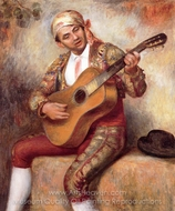 The Spanish Guitarist painting reproduction, Pierre-Auguste Renoir