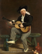 The Spanish Singer (Guitarrero) painting reproduction, �douard Manet